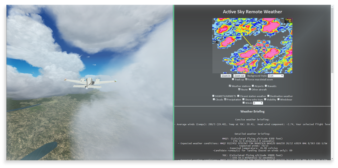 active sky weather image